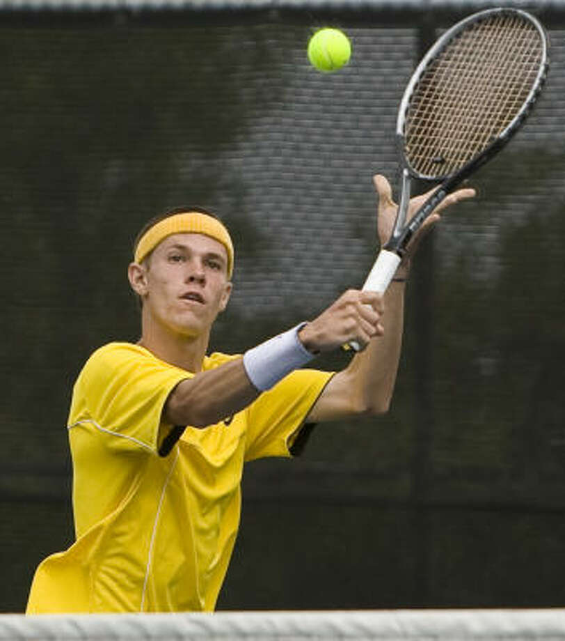 Montgomery's Daniel Brown was one of 10 Bears to play in the Class 4A state tournament. Brown beat Rockwall Heath's Brady Bohrnstedt to win the boys singles title. Photo: Ben Sklar, For The Chronicle