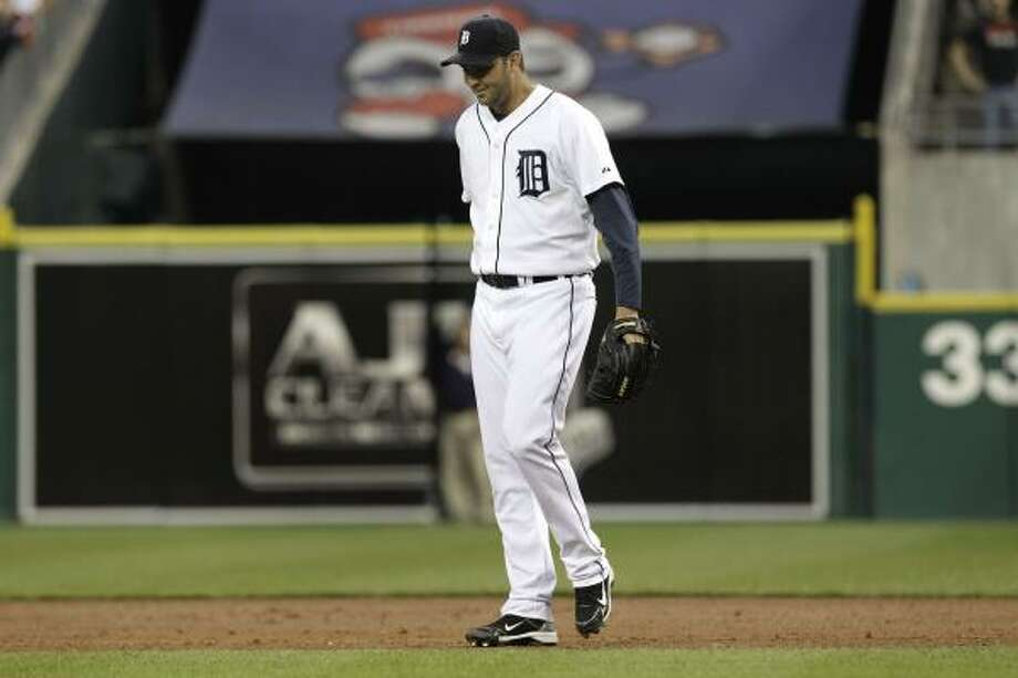 Detroit Tigers pitcher Armando Galarraga had a perfect game with two outs in the ninth inning Wednesday. Photo: Paul Sancya, AP