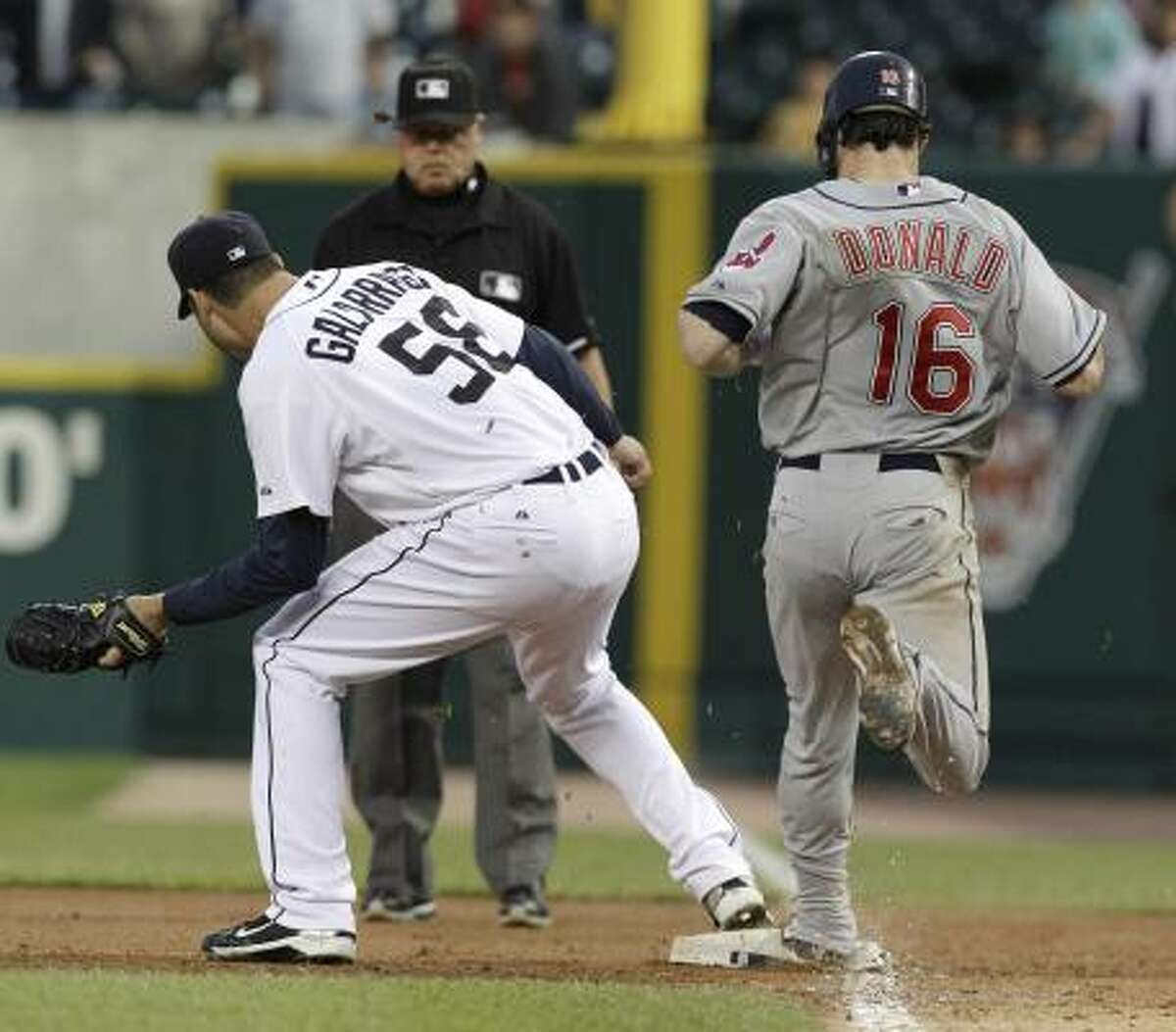 Galarraga caught the ball at least a step ahead of Donald, replays showed.