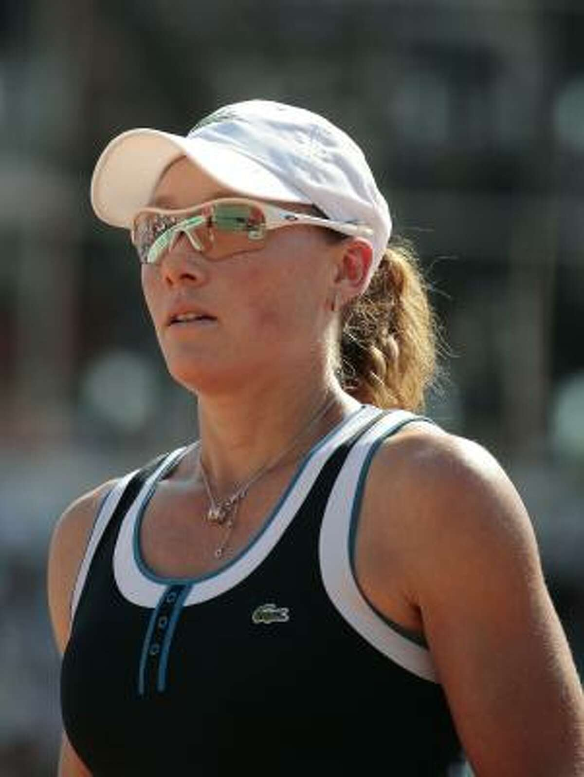 Australia's Samantha Stosur looks on during her women's semifinal match against Serbia's Jelena Jankovic.
