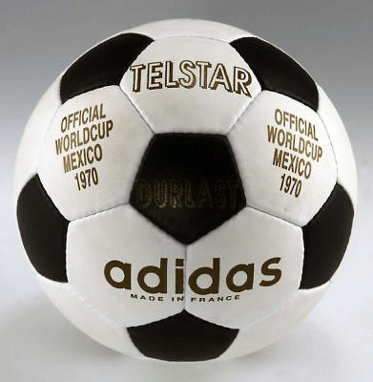 Mexico 1970: Telstar The Telstar was the first ball specially made for the World Cup. Telstar stood for Star of Television and was the first ball with 32 black and white panels. The contrasting colors made it easier to be seen on TV, and the 1970 Cup was the first to be broadcast live.