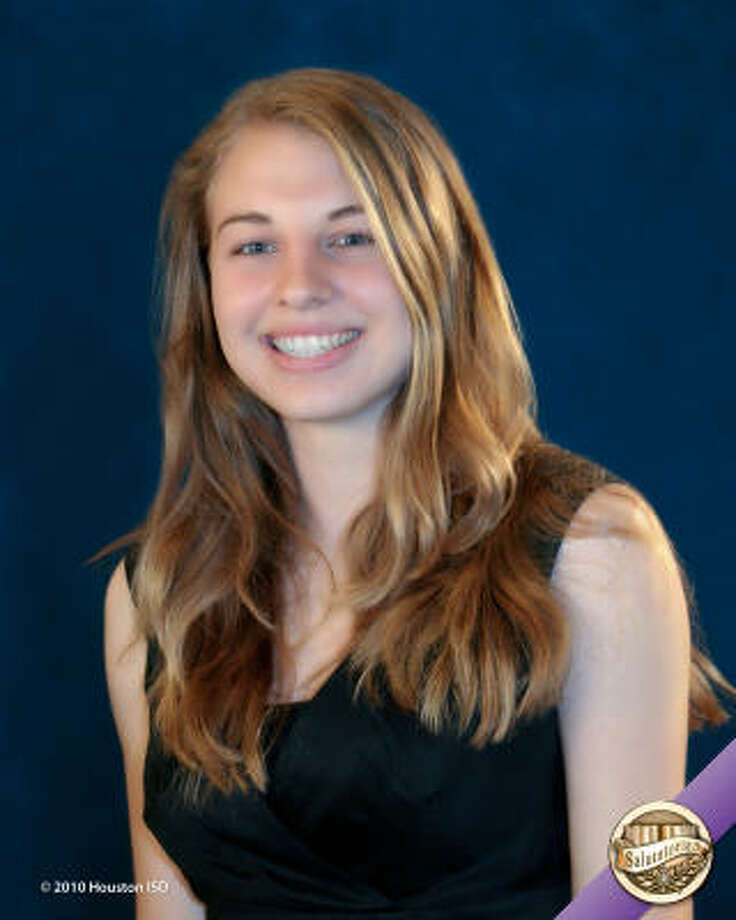 Amy Seiler, Carnegie Vanguard High School  Class rank:  Salutatorian;  Scholarships:  Rensselaer Leadership Scholarship, Bradley Presidential Scholarship, Advanced Placement Scholar with Honor and Wellesley Book Award Photo: Courtesy Of Houston ISD