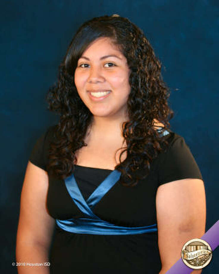 Elizabeth Garcia, Chavez High School  Class rank:  Salutatorian;  College:  University of Houston Goal for the Future: Major in education Photo: Courtesy Of Houston ISD