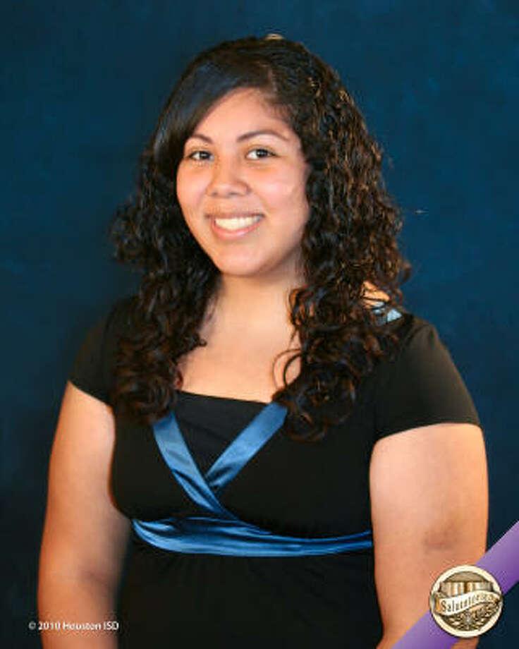 Elizabeth Garcia, Chavez High School Class rank: Salutatorian;  College:  University of Houston Goal for the Future: Major in education Photo: Courtesy Of Houston ISD