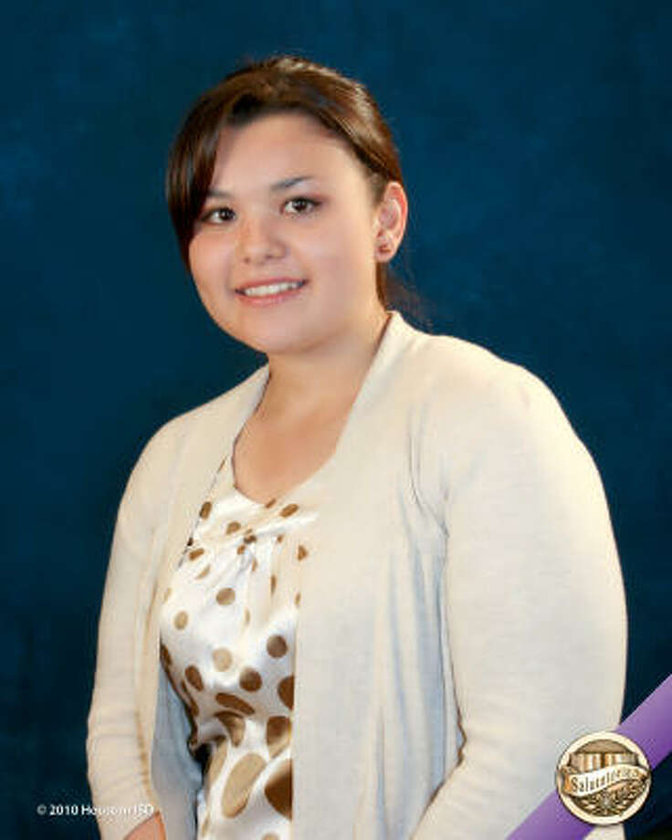 Maria Salinas, Eastwood Academy Class rank: Salutatorian;  College:  University of St. Thomas Career choice: Accounting