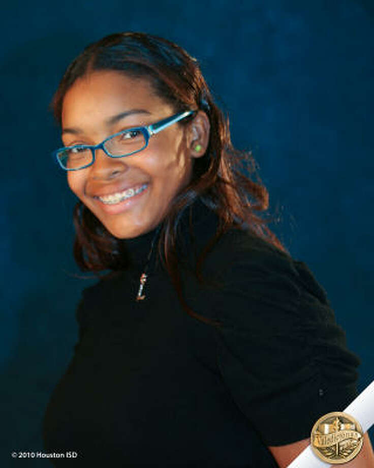 Lauren Parson, Empowerment College Preparatory High School Class rank: Valedictorian;  College:  University of Texas at Austin Goal for the Future: Degree in biology Photo: Courtesy Of Houston ISD