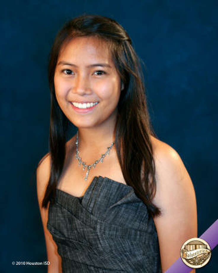 "To-Nhu ""Leslie"" Nguyen, Lamar High School  Class rank:  Salutatorian;  College:  Rice University Goal for the Future: ""I hope to help develop alternative energy sources."" Photo: Courtesy Of Houston ISD"