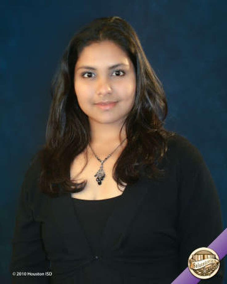 Shivana Prabhudial, Lee High School Class rank: Salutatorian;  College:  Texas A&M University Career choice: Engineering Photo: Courtesy Of Houston ISD