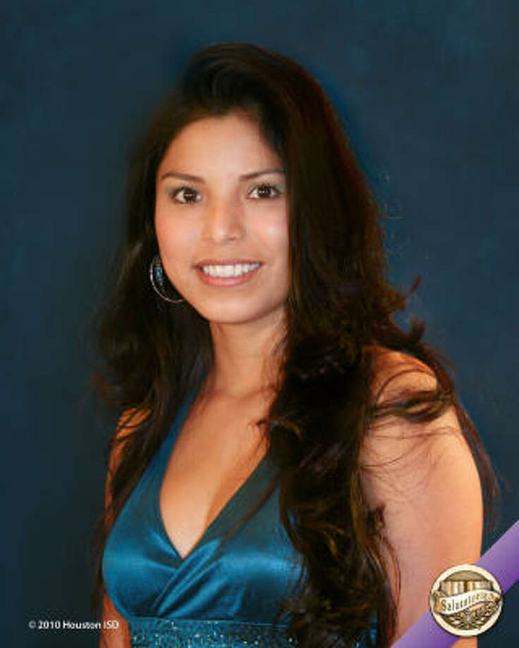 Elvia Yata Recendiz, Liberty High School  Class rank:  Salutatorian;  College:  University of Houston-DowntownCareer choice: Bilingual teacher Photo: Courtesy Of Houston ISD