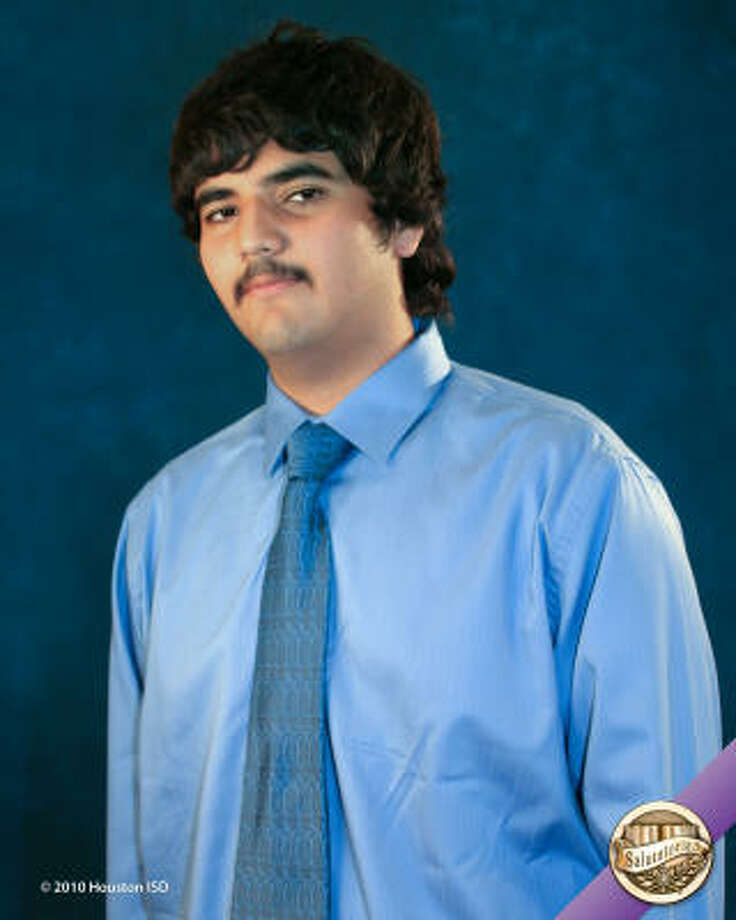 Carlos Alberto Favela, Milby High School Class rank: Salutatorian;  College:  University of Texas at Austin or Rice UniversityGoal for the Future: Major in biochemistry Photo: Courtesy Of Houston ISD