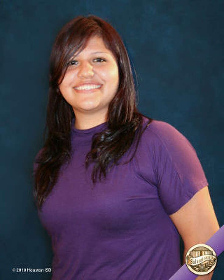 Alma Molina, Reagan High School Class rank: Salutatorian;  College:  University of Texas at Austin Career choice: Psychology Photo: Courtesy Of Houston ISD
