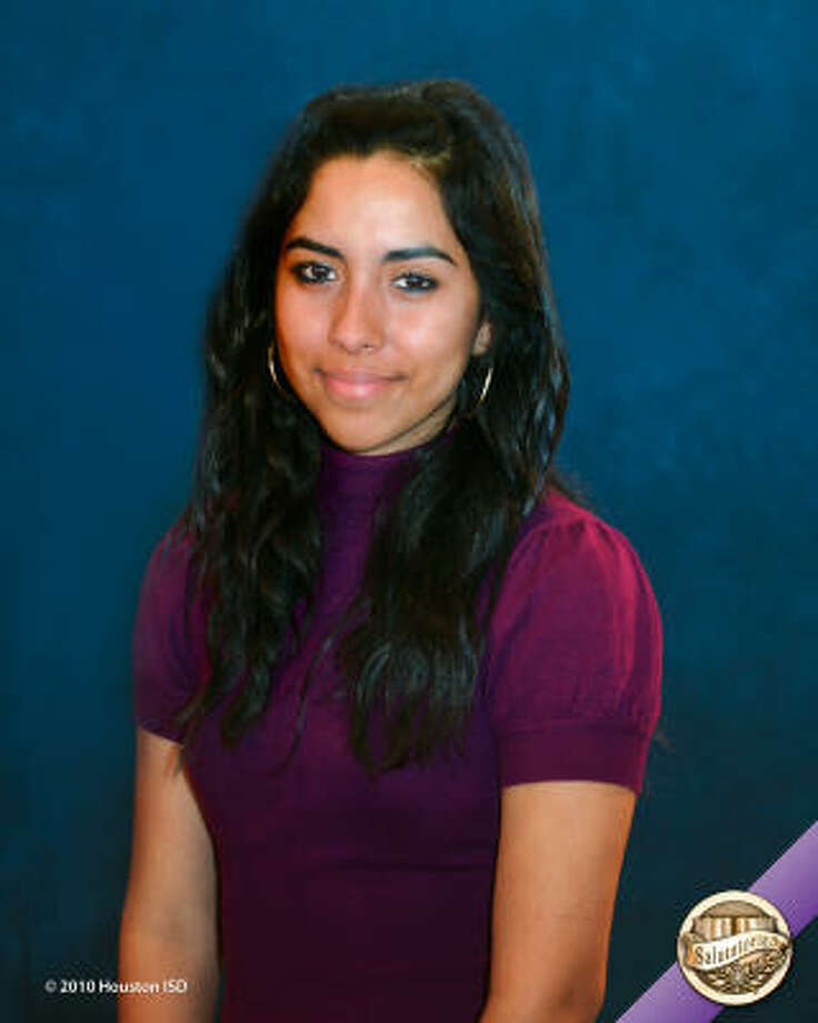 Yessenia Perales, Sam Houston Math, Science, and Technology Center Class rank: Co-Salutatorian;  College:  Sam Houston State University Goal for the Future:  Major in accounting Photo: Courtesy Of Houston ISD