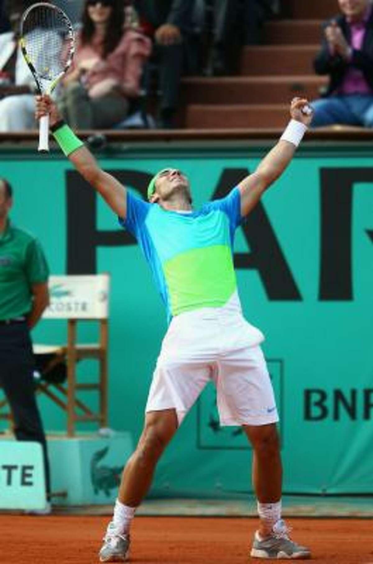 Rafael Nadal improved to 7-0 against Nicolas Almagro.
