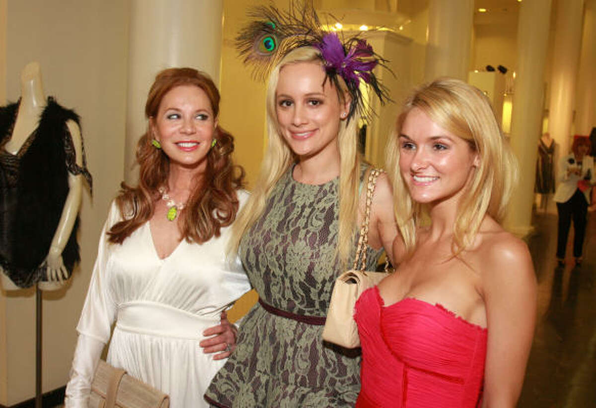 Honorary chair Cindi Rose, from left, with hosts Erica Rose and Ashley Foret at a private shopping party at Tootsies in celebration of Sex and the City 2. Part of the proceeds benefited the Rose Ribbon Foundation, which provides free reconstructive surgery to uninsured post-cancer patients.