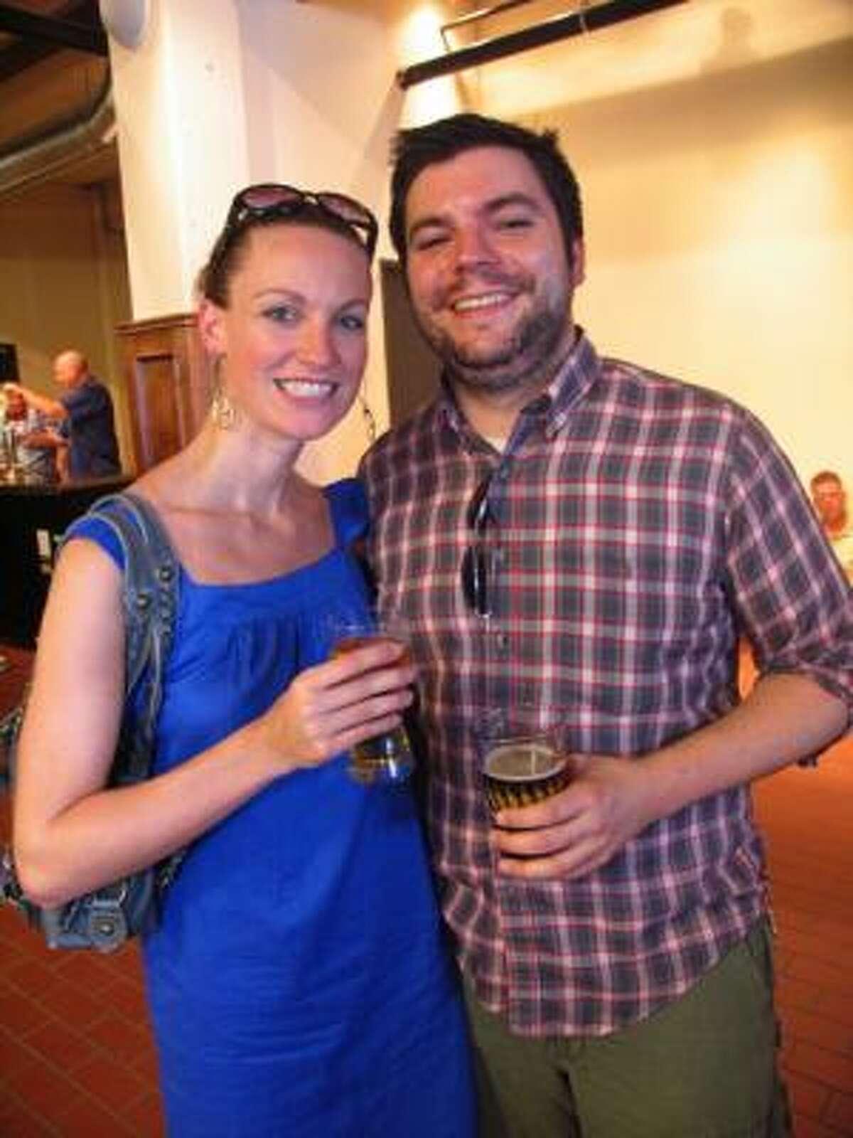 Karen Eckmann, left, and Jack Watkins