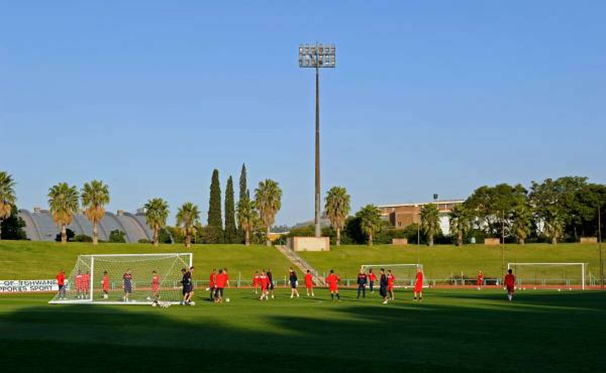 The U.S. national team trains on Tuesday, June 1, in Pretoria, South Africa.