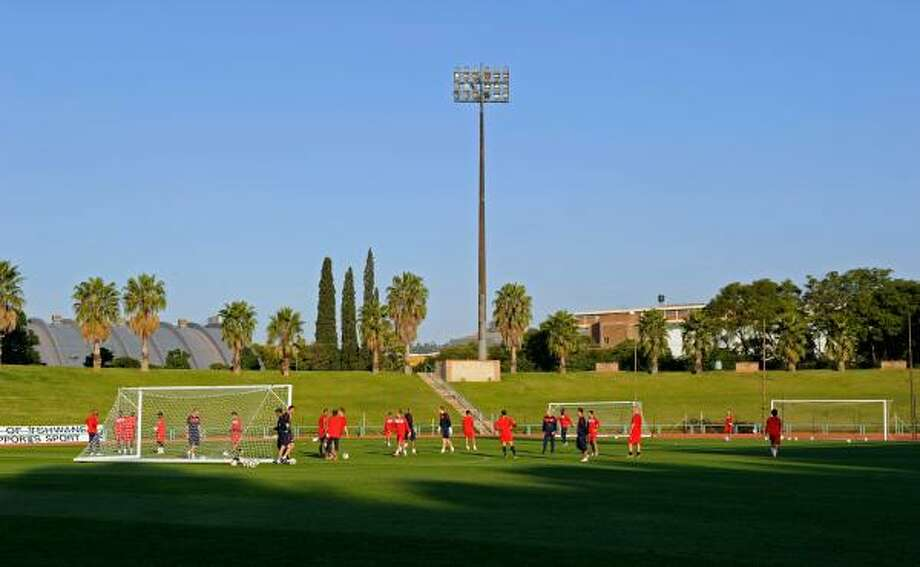 The U.S. national team trains on Tuesday, June 1, in Pretoria, South Africa. Photo: Kevork Djansezian, Getty Images