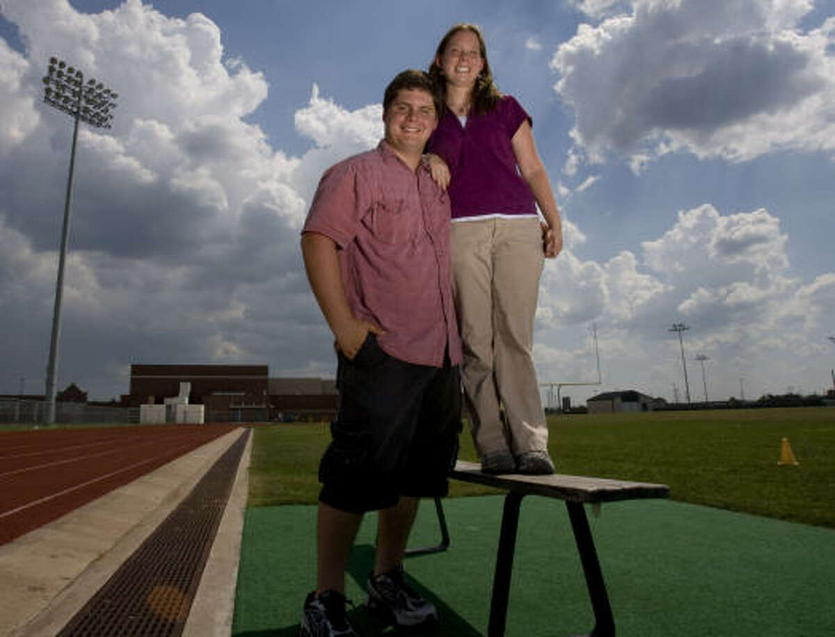 Manvel High School twins Martin Pospisil and Jessica Pospisil are graduating in the top 10 of their class. Martin is graduating second in his class, and Jessice is graduating sixith. Martin played football through his junior year until a shoulder injury stopped him, and Jessica is an athletic trainer.