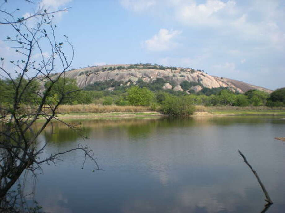 The Enchanted Rock State Nature Area. Photo:  Melissa Ward Aguilar, HOUSTON CHRONICLE