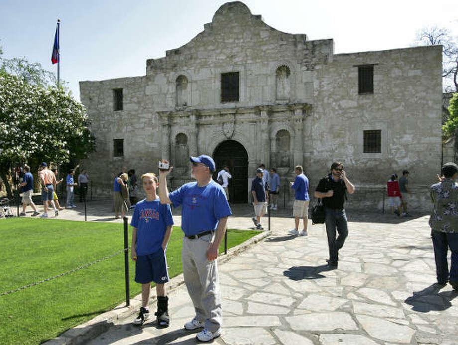 San Antonio attraction:The Alamo  Don't forget to remember the Alamo if you take the kids to San Antonio. Photo: Matt York, AP