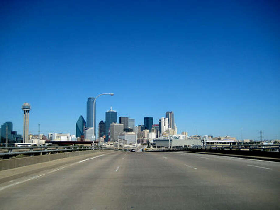 The Dallas-Fort Worth area is just a straight shot north from Houston on I-45.