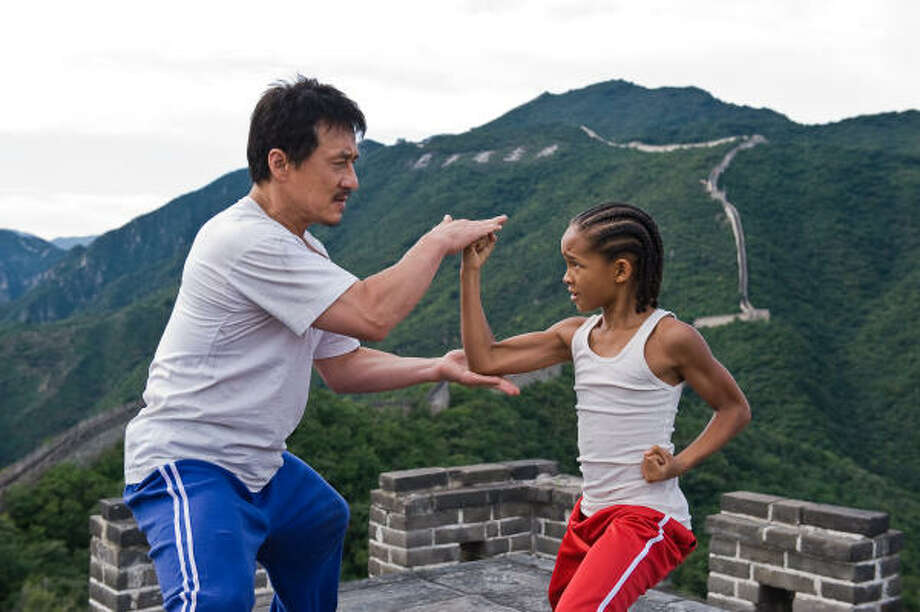 Jackie Chan and Jaden Smith in The Karate Kid. Photo: Columbia Pictures