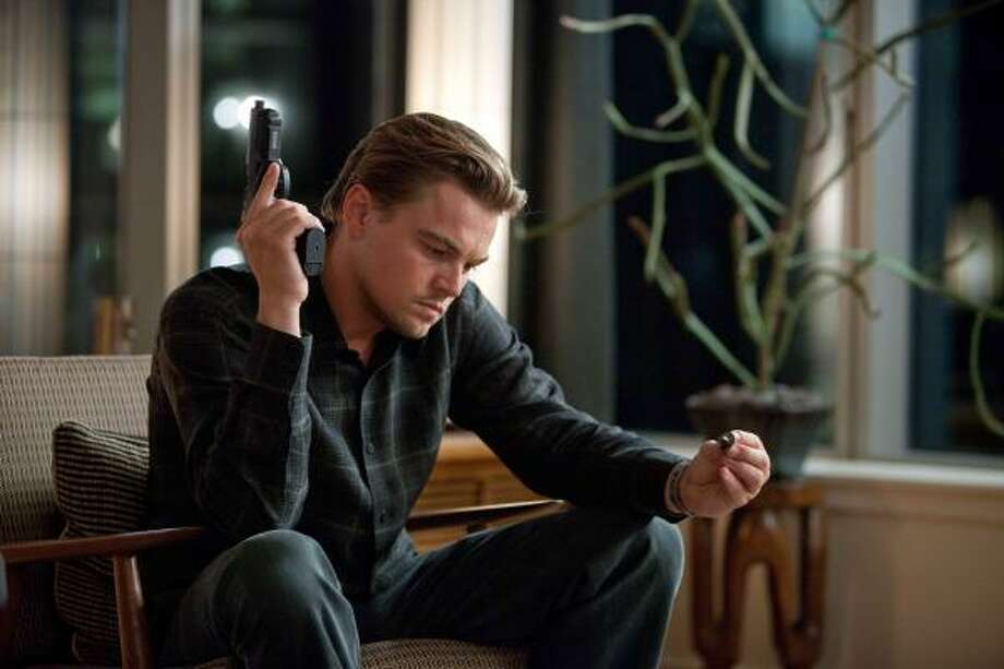 Leonardo DiCaprio plays a corporate thief who steals secrets from his victims while they're dreaming in Inception. Photo: Melissa Moseley, AP