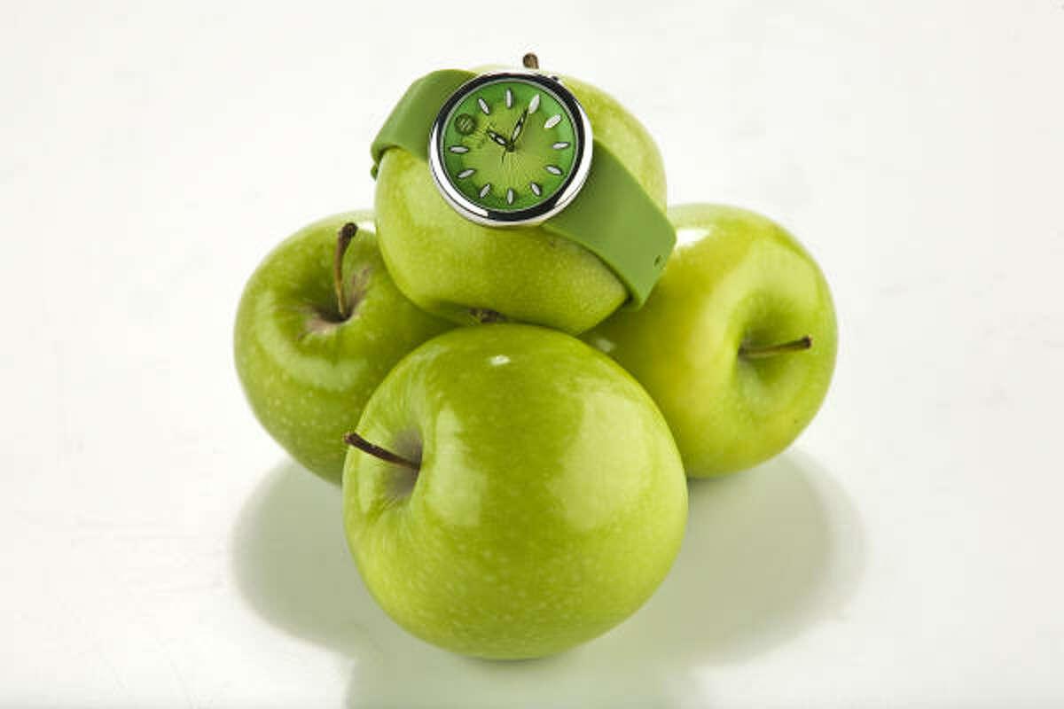 Philip Stein Fruitz watch, $225, Neiman Marcus and Nordstrom.