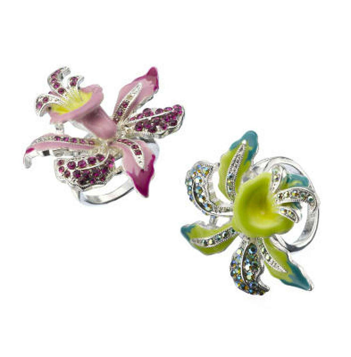 Decorative pins, such as these from Macy's, are an easy way to add chartreuse to your wardrobe.