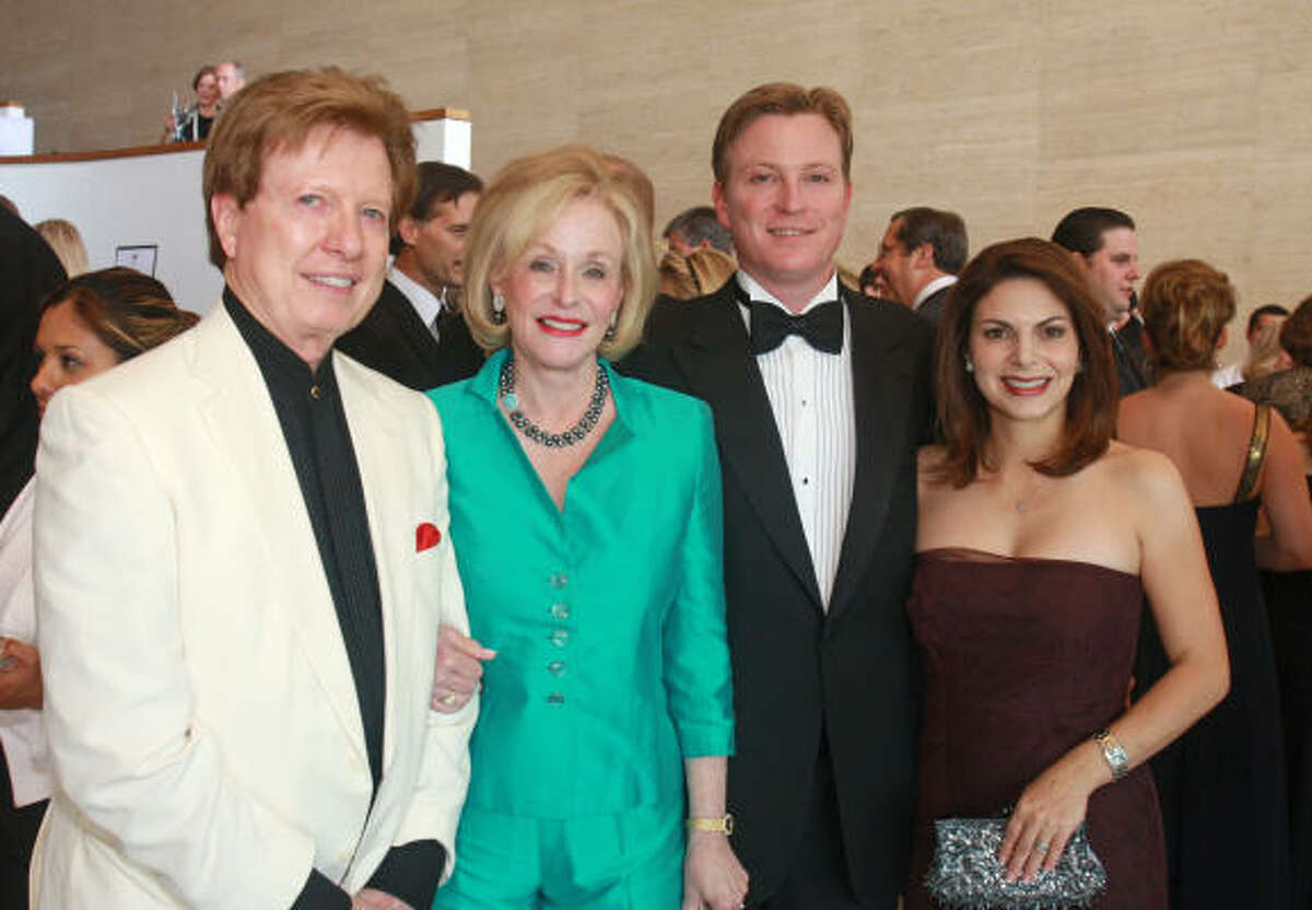 Chairs Michael and Carolyn Mann, from left, and Paul and Kathy Mann at the Houston Symphony's Maestro's Wine Dinner benefiting the Ima Hogg Young Artist Competition.