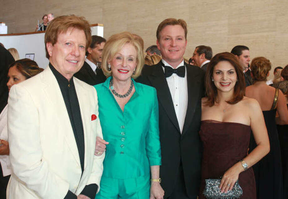 Chairs Michael and Carolyn Mann, from left, and Paul and Kathy Mann at the Houston Symphony's Maestro's Wine Dinner benefiting the Ima Hogg Young Artist Competition. Photo: Gary Fountain, For The Chronicle