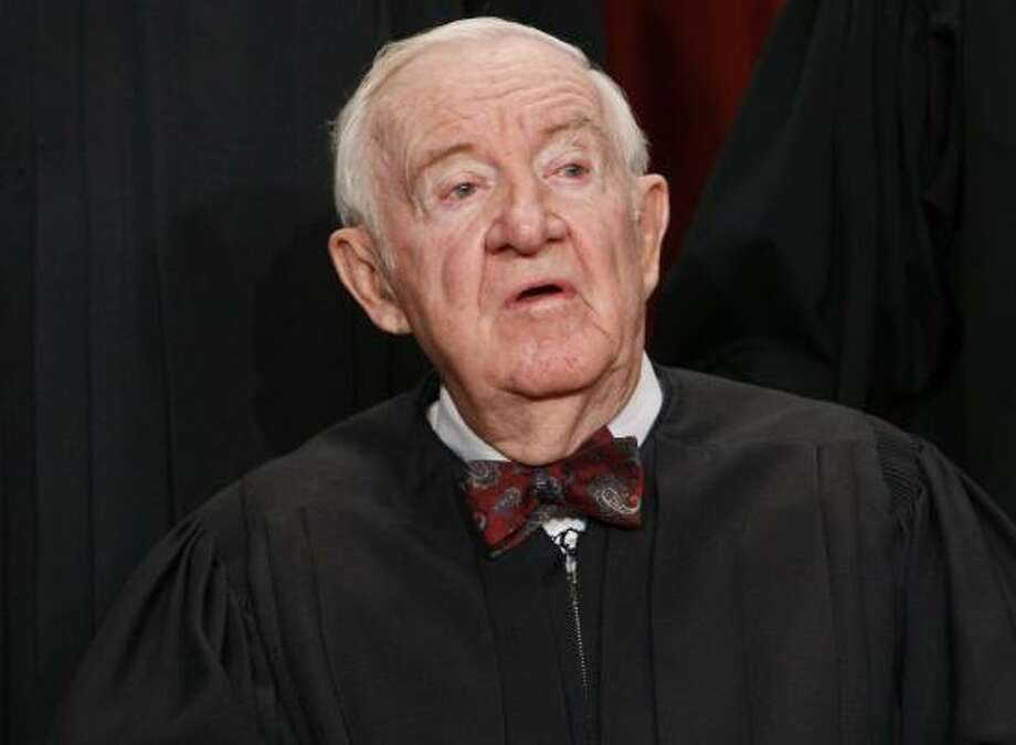 John Paul Stevens, now retired, was appointed to the Supreme Court in 1975. Photo: Charles Dharapak, AP