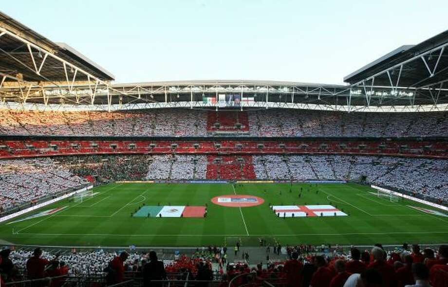 ENGLAND 3, MEXICO 1 Wembley Stadium in London was the site of this international friendly ahead of the World Cup. Photo: Handout, Getty Images