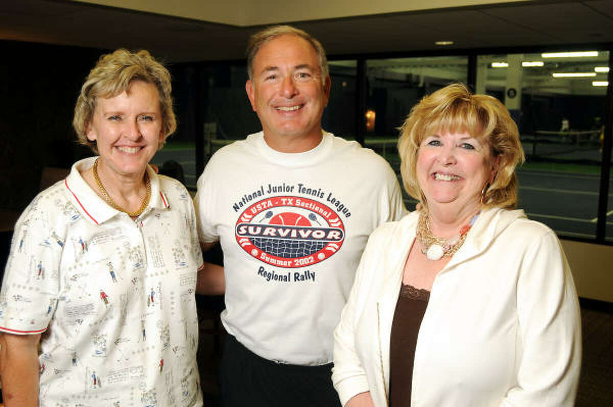 From left: Toni Lawrence, Randy Ortwein and Cheryl Hultquist Horvath