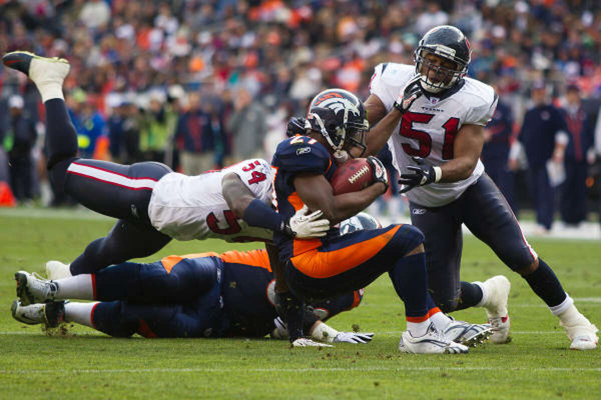 Texans rookie linebacker Darryl Sharpton (51) won't play in the season finale against Jacksonville.
