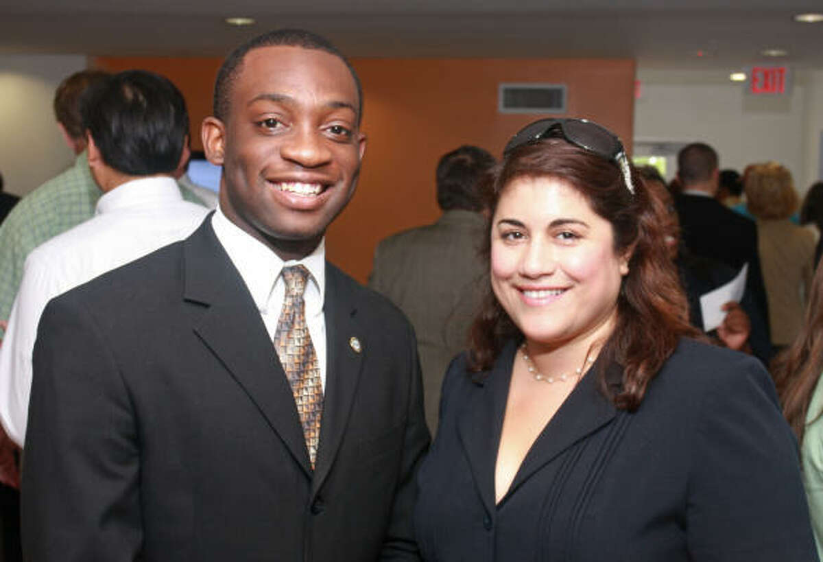 Samuel Dike and Ana Clark at Home + Hope, an event celebrating the opening of New Hope Housing at Brays Crossing.