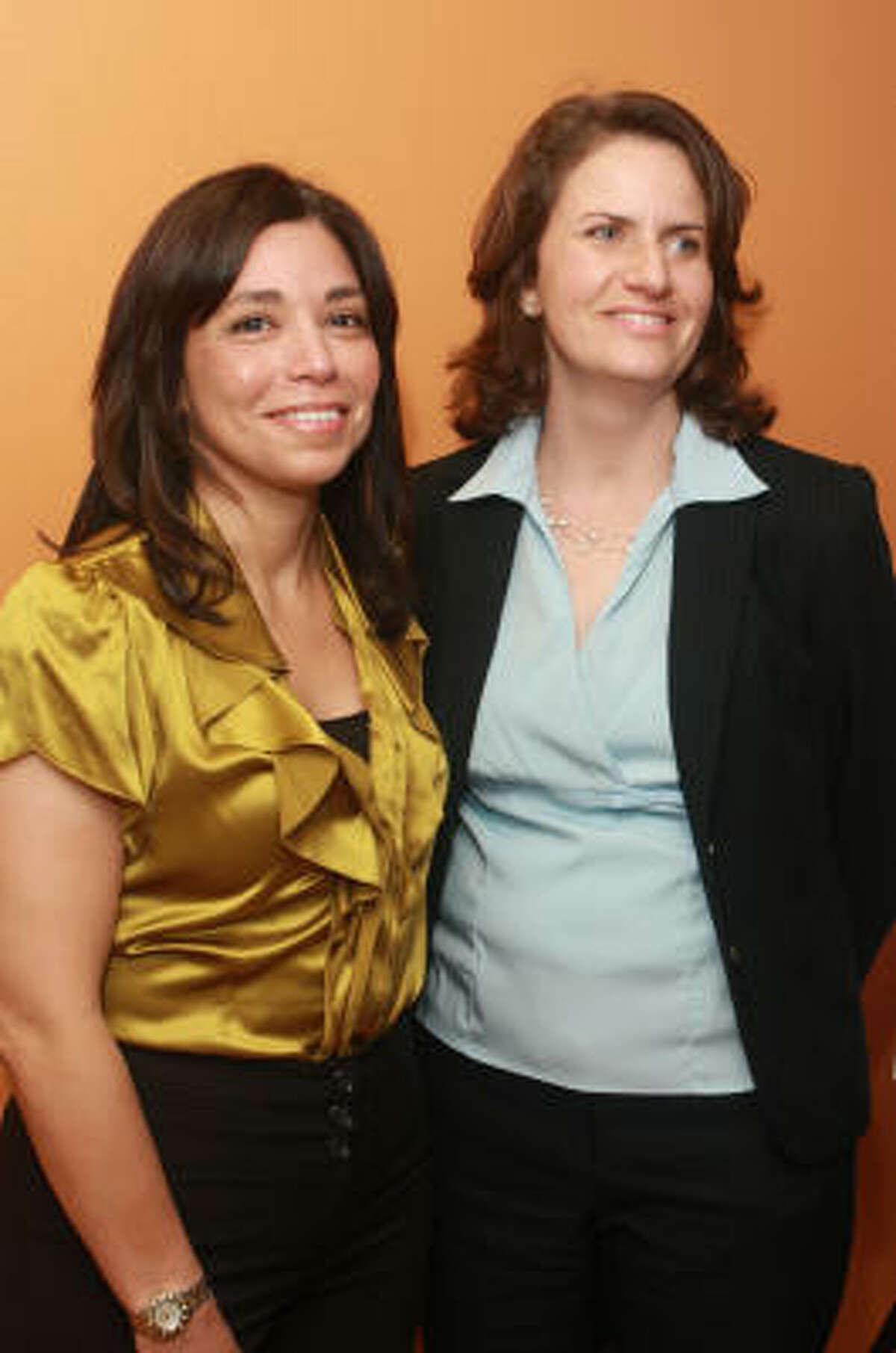 Laura Jaramillo, left, and Amanda Timm