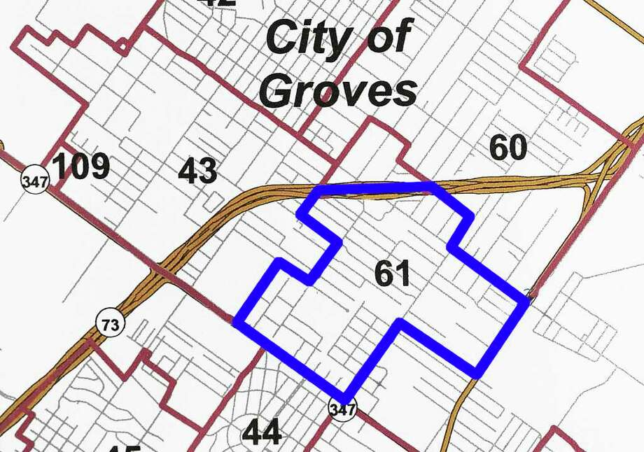 Jefferson County commissioners' precincts have been redrawn in response to a shift in population reflected in the 2010 Census. A portion of Precinct 61 in the Port Arthur/Groves area will shift from Commissioner Brent Weaver's precinct to Commissioner Michael Sinegal's area. Map created by Guiseppe Barranco