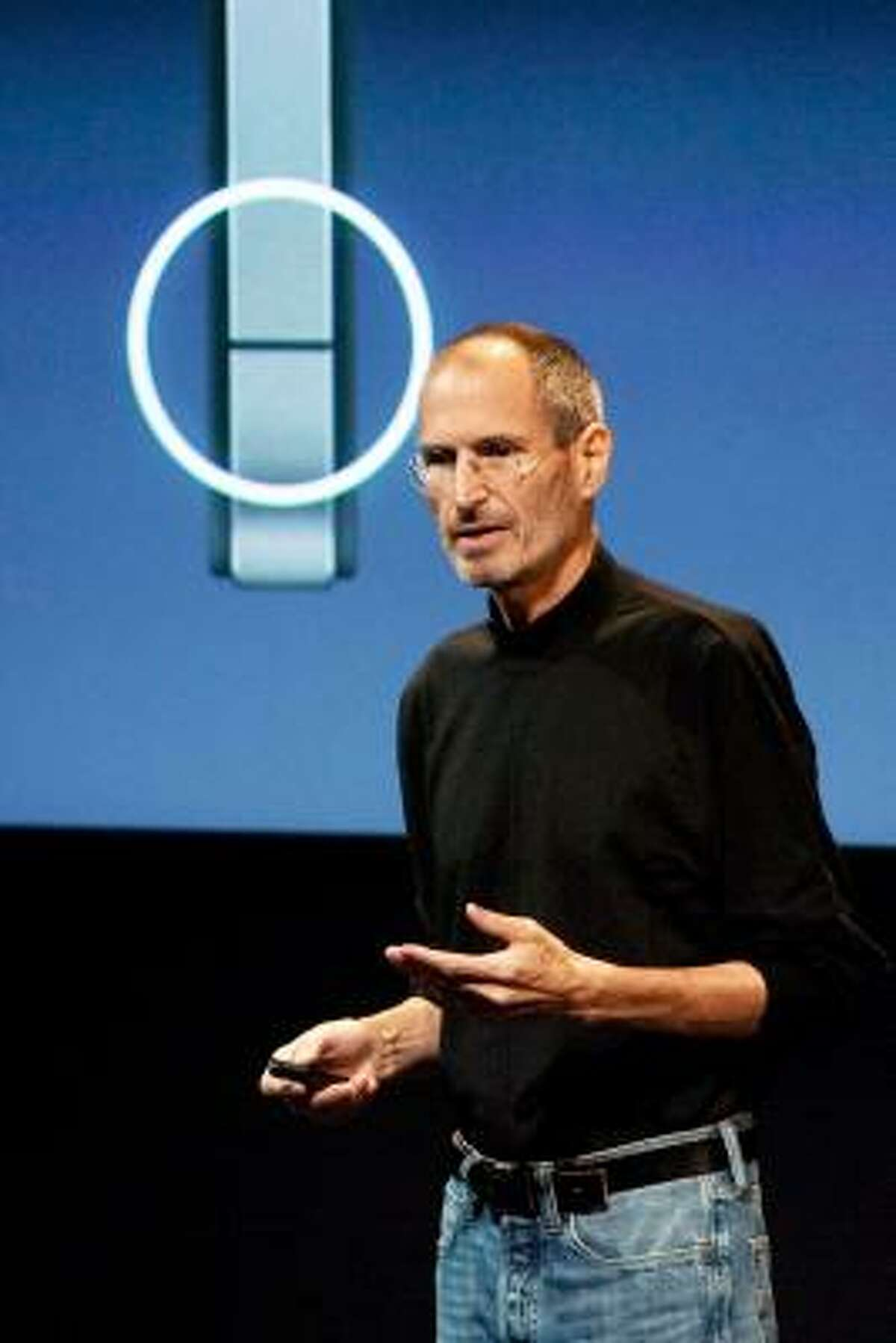 Steve Jobs, CEO of Apple Inc., speaking at a news conference Friday, acknowledged reception problems users are having with the iPhone 4, but said the device won't be altered.