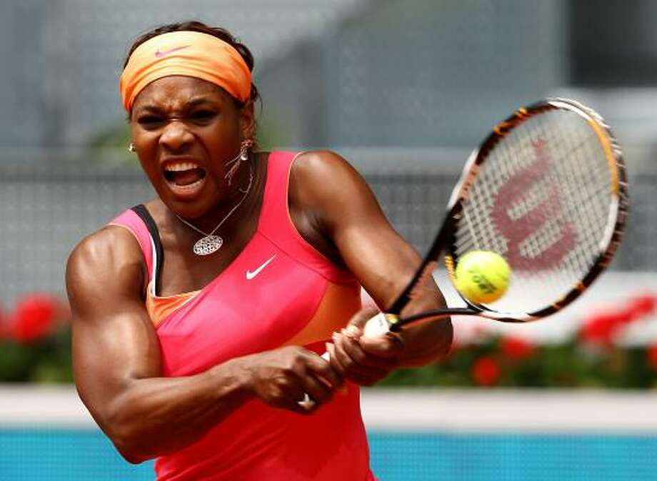 SERENA WILLIAMS (1)Age: 28  Country: United States  2010 Match Record: 14-3  2010 Singles Titles: 1  Career Singles Titles: 36  Major Titles: 12 — French Open ('02), Wimbledon ('02, '03, '09), U.S. Open ('99, '02, '08), Australian Open ('03, '05, '07, '09, '10)  Last 5 French Opens: '09-Lost in Quarterfinals, '08-3rd, '07-QF, '06-Did Not Play, '05-DNPTopspin: Did not play on tour in February, March or April because of a left knee injury. ... Returned to action on clay at Rome in early May. ... Has lost two of past three matches heading to Roland Garros. ... French Open is only Grand Slam event where she has not won at least two titles; has won three or more championships at each of the other major tournaments. ... Earned 2009 Associated Press Female Athlete of the Year honors after winning Australian Open and Wimbledon. Photo: Clive Brunskill, Getty Images