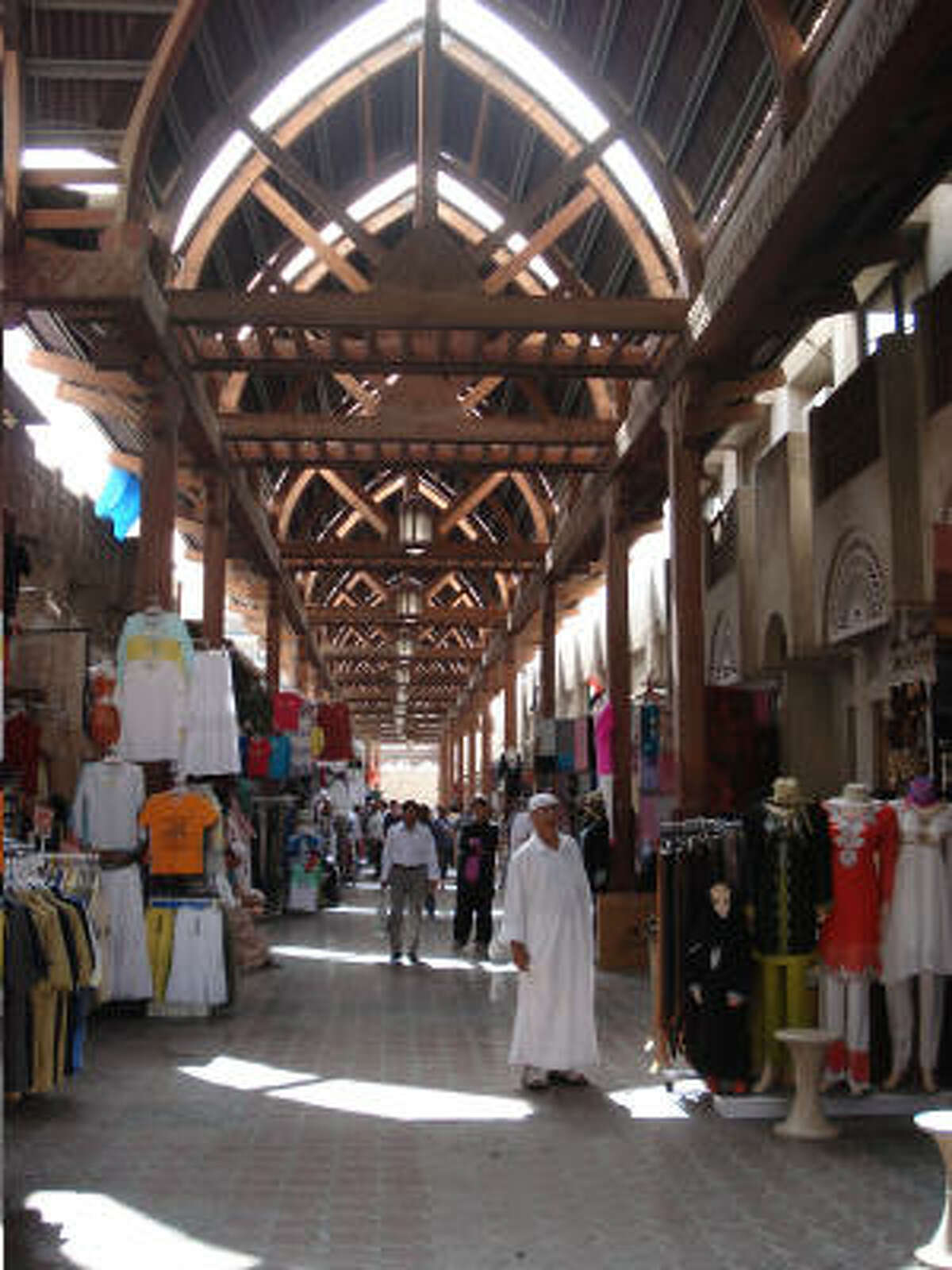 There are many souqs, or open air markets, in Dubai. This large one offered garments with an Indian flair. Back in the '60s Dubai still had no electricity, no running water and no paved roads.