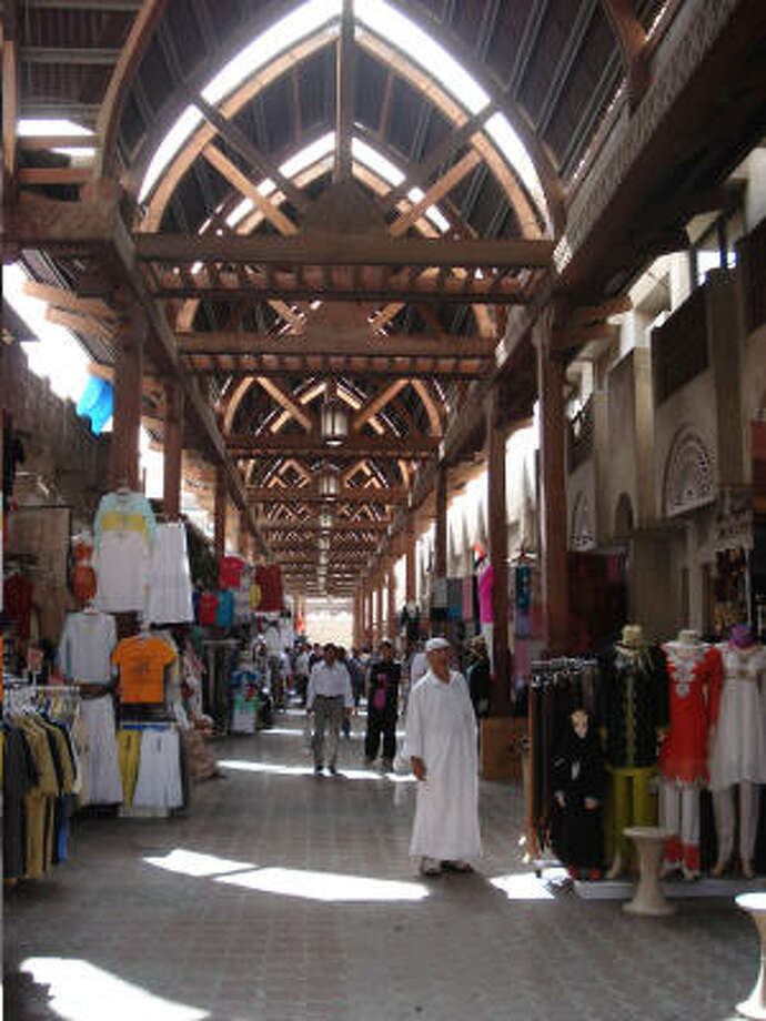 There are many souqs, or open air markets, in Dubai. This large one offered garments with an Indian flair. Back in the '60s Dubai still had no electricity, no running water and no paved roads. Photo: Tara Dooley, Chronicle