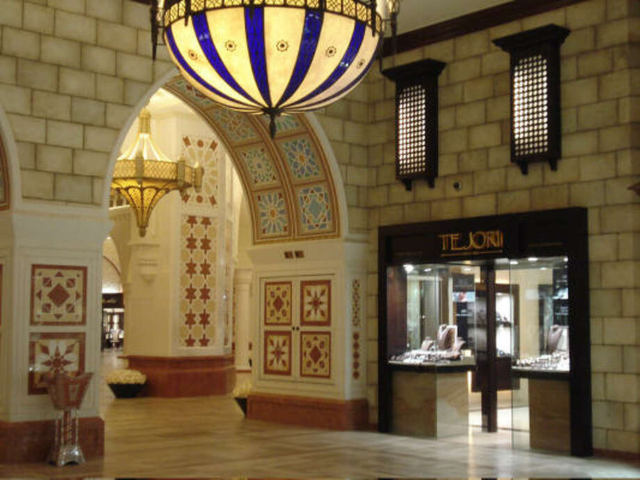 The Mall of Dubai is one of the largest in the world. This is a section called the Gold Souq. The country is known as a trading hub. It produced pearls and traded gold. Photo: Tara Dooley, Chronicle