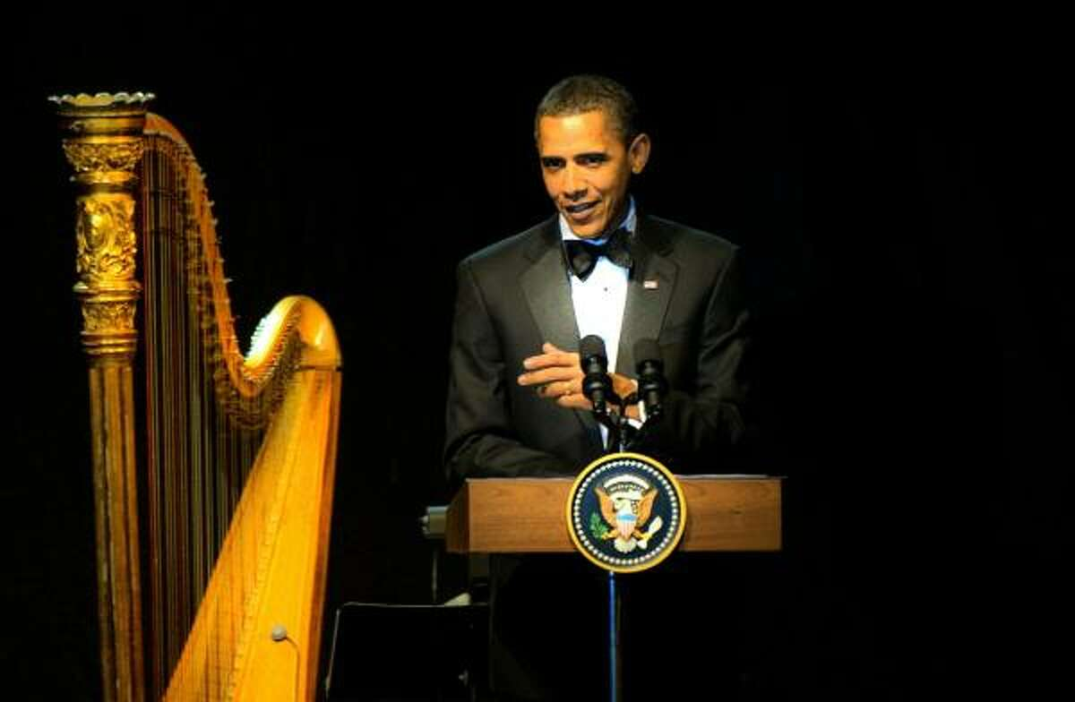President Obama makes remarks before entertainment following a state dinner in honor of Mexican President Felipe Calderon at the White House.