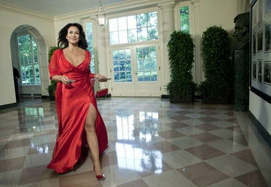 TV personality Giselle Fernandez  arrives at the White House. Photo: Brendan Smialowski, Getty Images