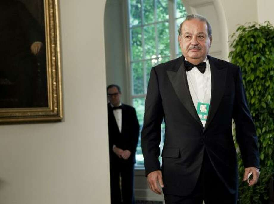 Carlos Slim, chairman and CEO of Telmex, Telcel and America Movil, arrives at the White House. Photo: Brendan Smialowski, Getty Images