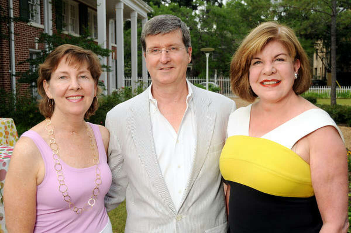 From left: Susan Clayton Garwood and George Peterkin with Julia Frankel