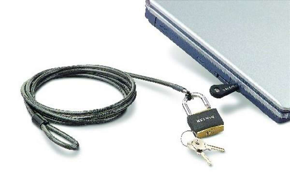 Protect your computer and other valuable equipment from theft. Each Notebook Lock comes with a 6-foot aircraft-grade steel cable and includes a padlock, two keys and a nylon carrying bag. Fry's Electronics or www.amazon.com.