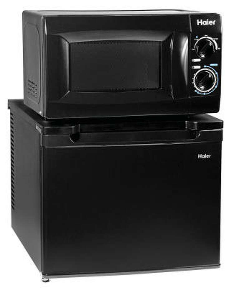From cellphones that double as MP3s to pants that convert to shorts, we're all about two-in-one. This unit lets your college-bound grad to have two popular dorm appliances packaged together.