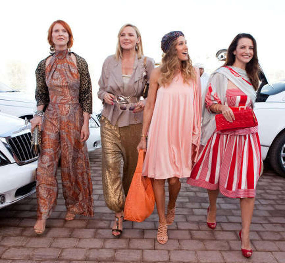 Miranda (Cynthia Nixon), Samantha (Kim Cattrall), Carrie (Sarah Jessica Parker) and Charlotte (Kristin Davis) are ready to glam it up in Sex and the City 2. Photo: CRAIG BLANKENHORN, PR NEWSWIRE